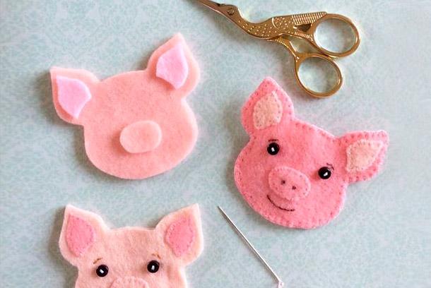 Поделка Свинья из соленого теста: оригинальный подарок на Новый год 2019 svinya simvol goda 201915