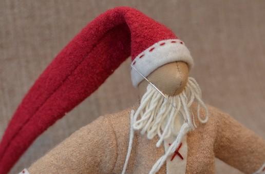 Новогодний Дед мороз в стиле тильда tilda ded moroz 12