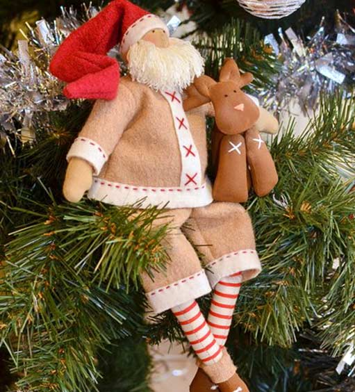 Новогодний Дед мороз в стиле тильда tilda ded moroz 17
