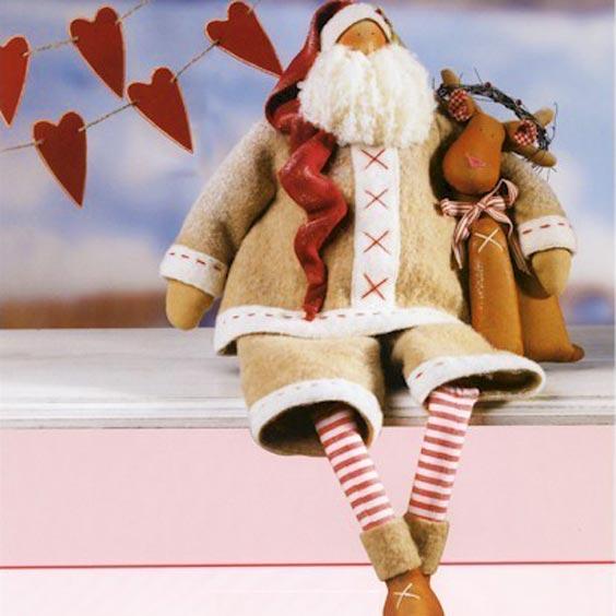 Новогодний Дед мороз в стиле тильда tilda ded moroz 18