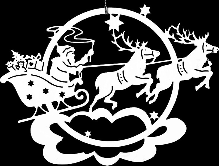 Шаблоны Деда Мороза для вырезания из бумаги trafarety ded moroz 002
