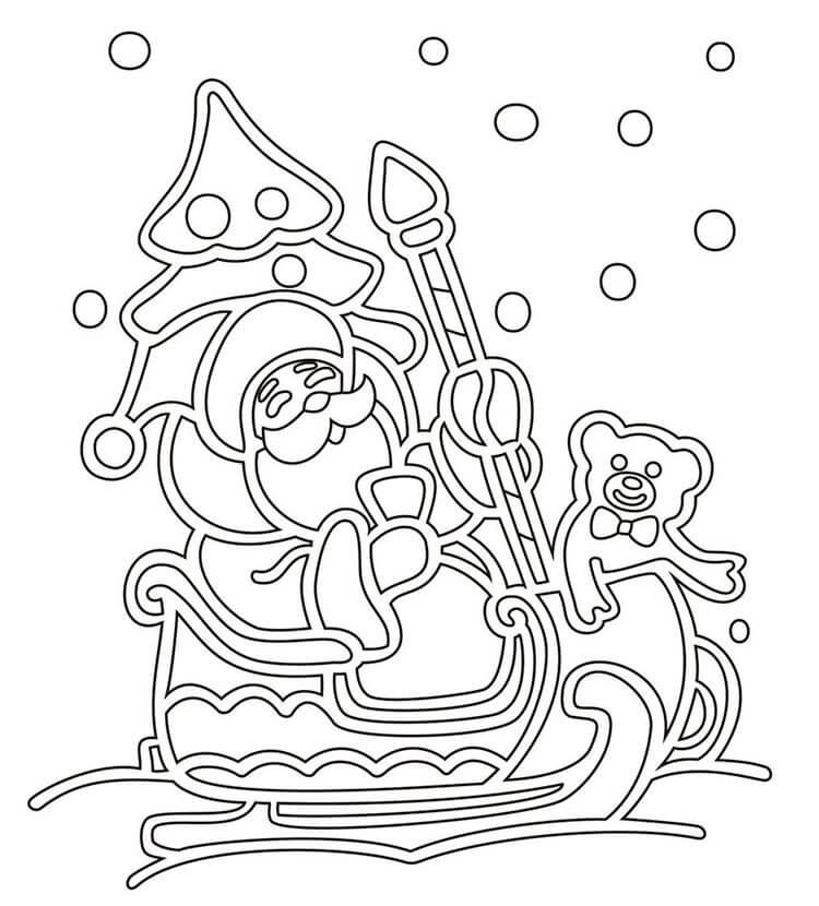 Шаблоны Деда Мороза для вырезания из бумаги trafarety ded moroz 007