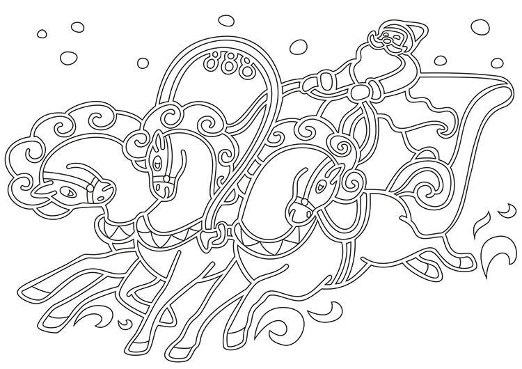 Шаблоны Деда Мороза для вырезания из бумаги trafarety ded moroz 009