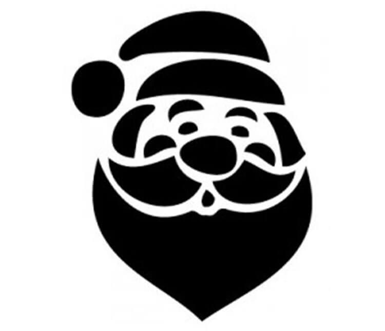 Шаблоны Деда Мороза для вырезания из бумаги trafarety ded moroz 018