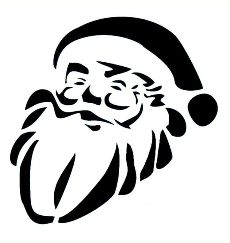 Шаблоны Деда Мороза для вырезания из бумаги trafarety ded moroz 020