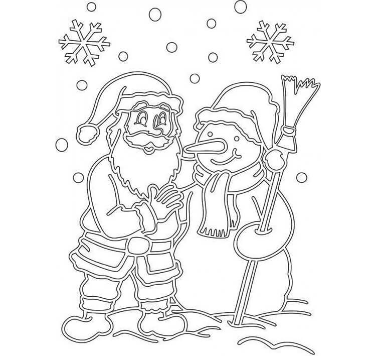 Шаблоны Деда Мороза для вырезания из бумаги trafarety ded moroz 021