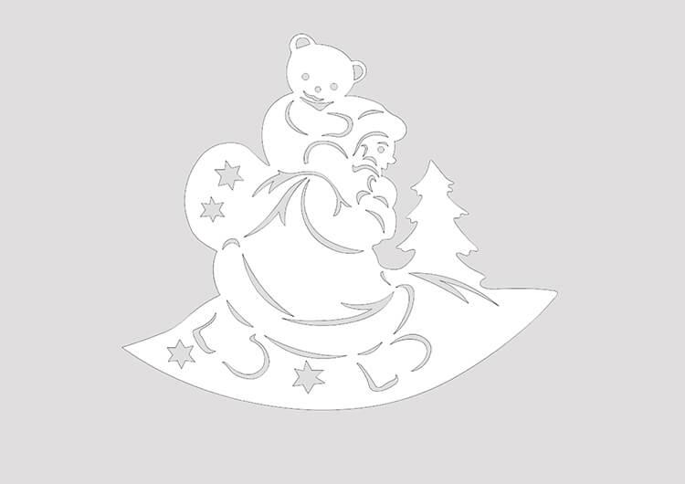 Шаблоны Деда Мороза для вырезания из бумаги trafarety ded moroz 026