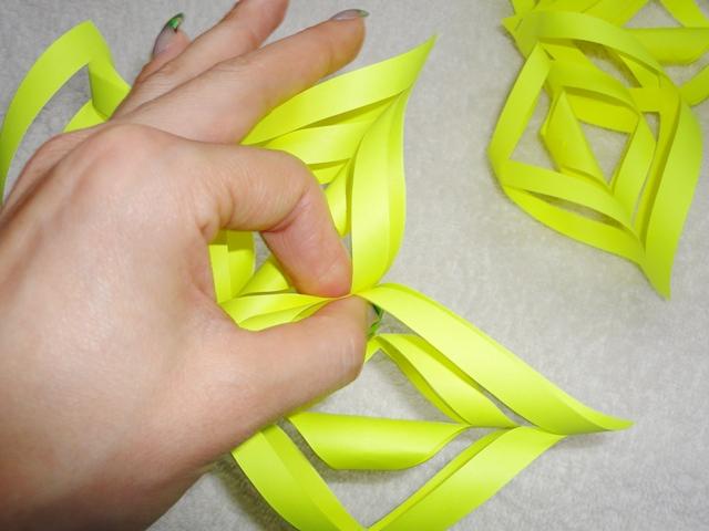 Объемные снежинки из бумаги своими руками 3d snowflakes 11