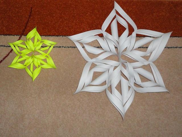 Объемные снежинки из бумаги своими руками 3d snowflakes 12