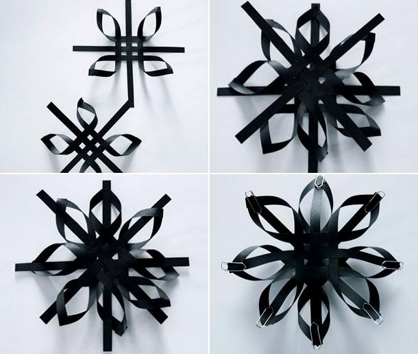 Объемные снежинки из бумаги своими руками 3d snowflakes 16