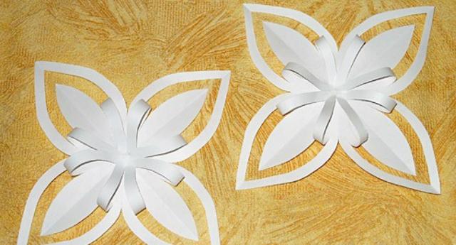 Объемные снежинки из бумаги своими руками 3d snowflakes 19