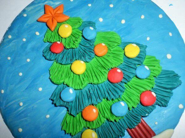 Елка из пластилина: детская поделка на Новый год Elka iz plastilina 22