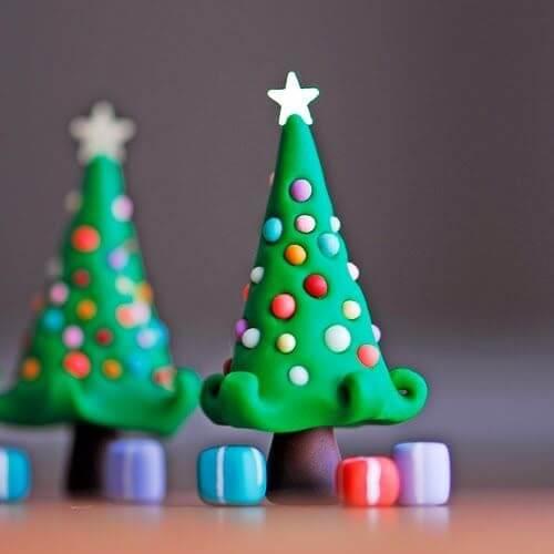 Елка из пластилина: детская поделка на Новый год Elka iz plastilina 24