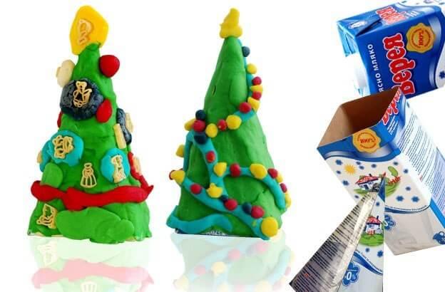 Елка из пластилина: детская поделка на Новый год Elka iz plastilina 25