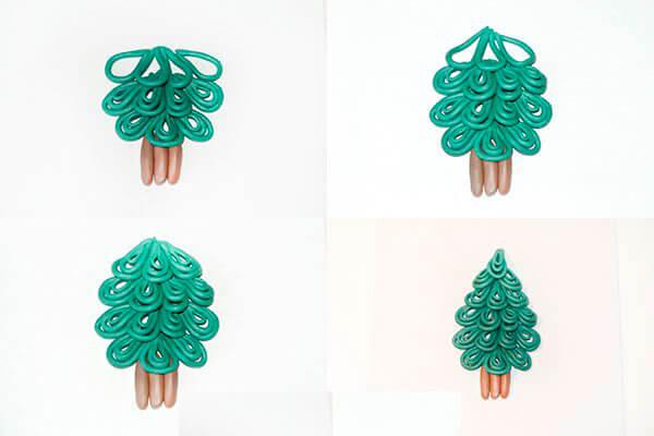 Елка из пластилина: детская поделка на Новый год elka iz plastilina 13