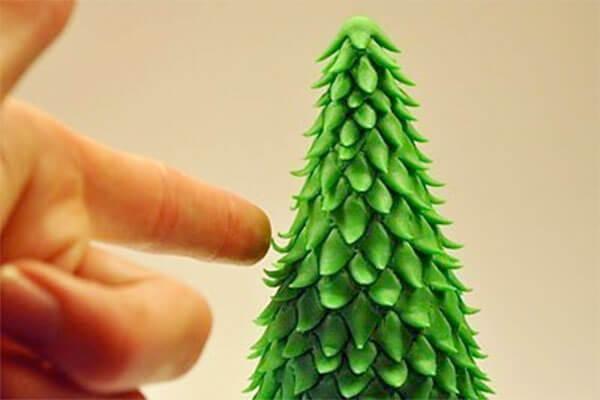 Елка из пластилина: детская поделка на Новый год elka iz plastilina 20