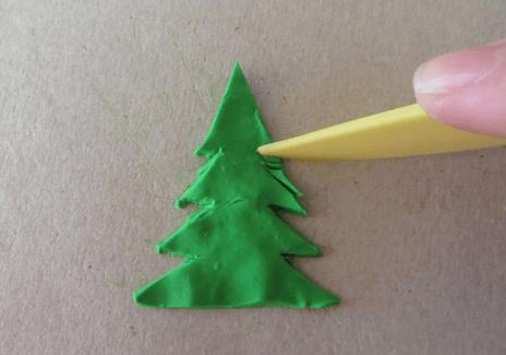 Елка из пластилина: детская поделка на Новый год elka iz plastilina 5