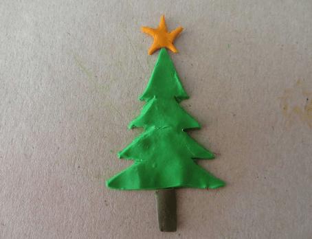 Елка из пластилина: детская поделка на Новый год elka iz plastilina 7
