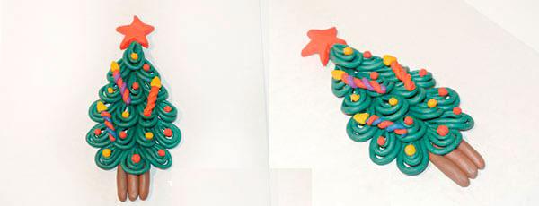 Елка из пластилина: детская поделка на Новый год elka iz plastilina 9