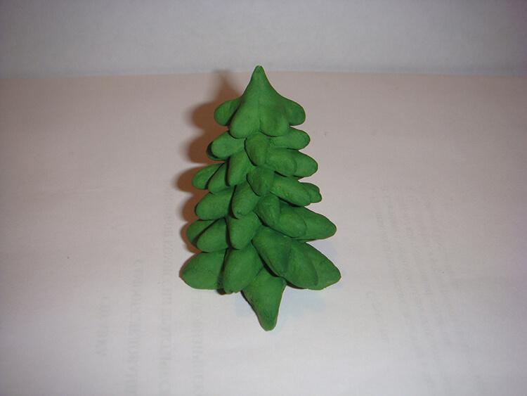 Елочка из соленого теста   оригинальная игрушка на Новый год elochka solenogo testa 13
