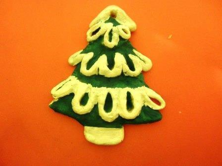 Елочка из соленого теста   оригинальная игрушка на Новый год elochka solenogo testa 9