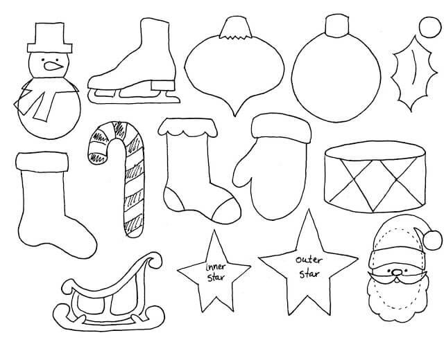 Как сделать новогодние игрушки из фетра: мастер класс igrushki iz fetra 11