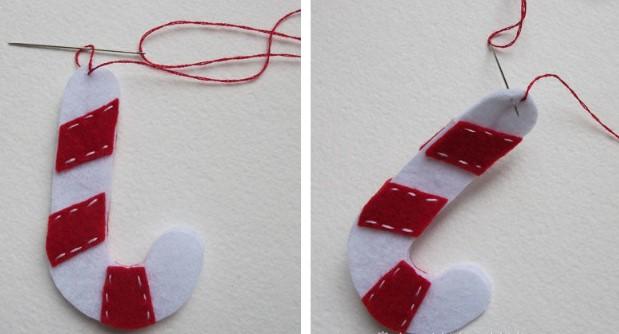 Как сделать новогодние игрушки из фетра: мастер класс igrushki iz fetra 16
