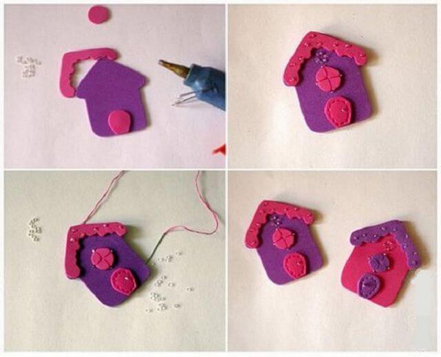 Игрушки из фоамирана: украшаем Елку своими руками igrushki iz foma 12