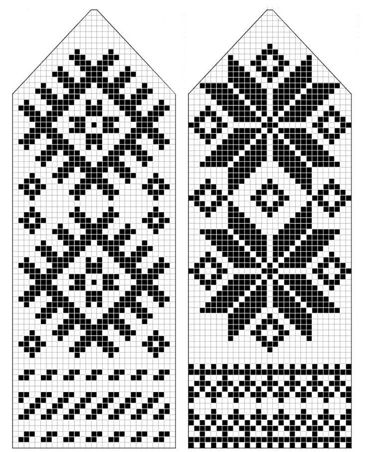 Норвежские узоры для создания уникальных вещей norvegian uzor 26