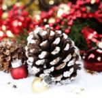 Новогодний декор из шишек: идеи украшений с фото