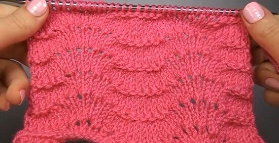 Описание вязания Павлиньего узора спицами pavliniy xvoct 10
