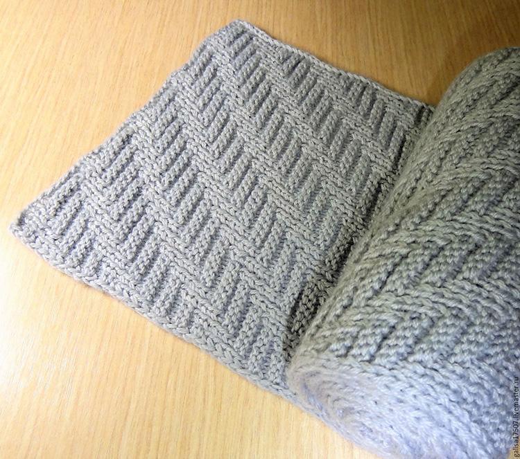 Модный шарф хомут, связанный узором Протектор sharf uzorom protektor 4