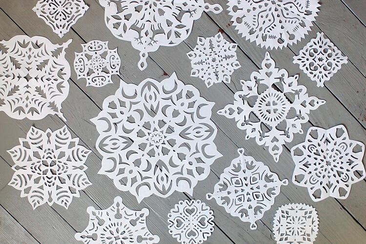 Красивые снежинки из бумаги: советы, схемы snowflakes 1