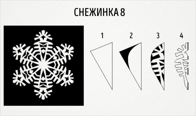 Красивые снежинки из бумаги: советы, схемы snowflakes 11