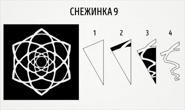 Красивые снежинки из бумаги: советы, схемы snowflakes 12