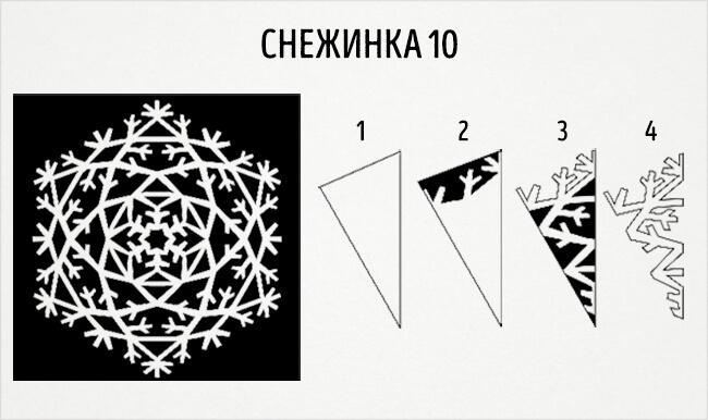 Красивые снежинки из бумаги: советы, схемы snowflakes 13