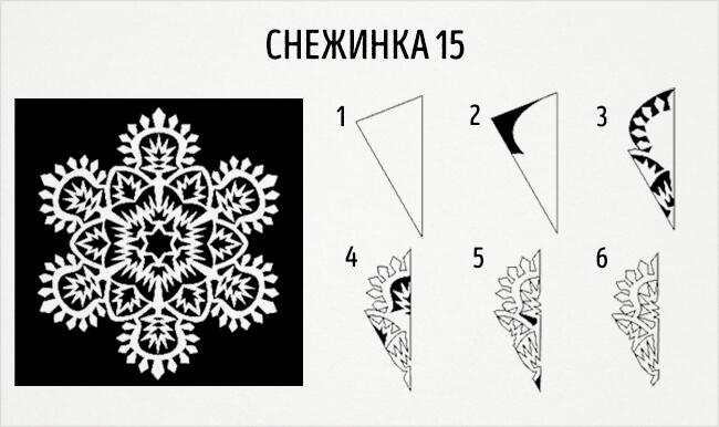 Красивые снежинки из бумаги: советы, схемы snowflakes 18