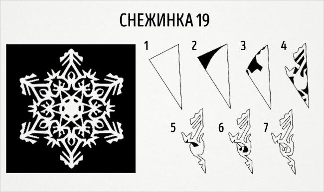 Красивые снежинки из бумаги: советы, схемы snowflakes 22