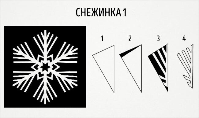 Красивые снежинки из бумаги: советы, схемы snowflakes 4 2