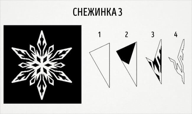 Красивые снежинки из бумаги: советы, схемы snowflakes 6