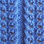 Варианты вязания узора Дорожки спицами