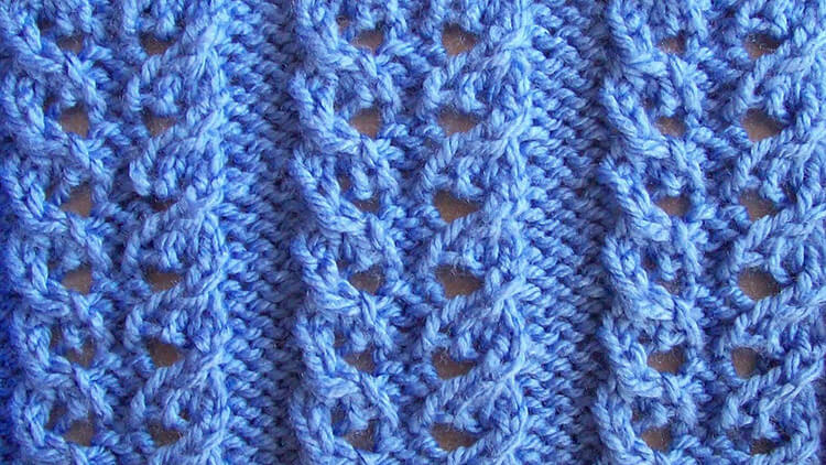 Варианты вязания узора Дорожки спицами uzor dorozhki spicami 1