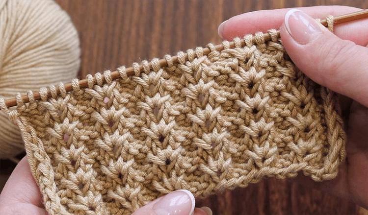 Варианты вязания узора Дорожки спицами uzor dorozhki spicami 11