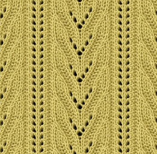Варианты вязания узора Дорожки спицами uzor dorozhki spicami 8