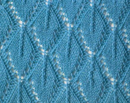 Узор Листья спицами: варианты вязания со схемами uzor listya spicami 11
