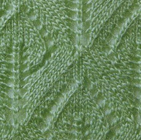 Узор Листья спицами: варианты вязания со схемами uzor listya spicami 2