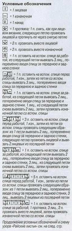 Узор Листья спицами: варианты вязания со схемами uzor listya spicami 4