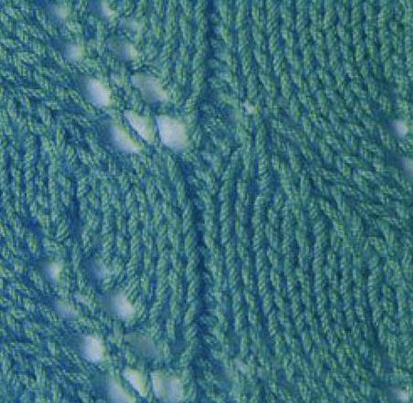 Узор Листья спицами: варианты вязания со схемами uzor listya spicami 5