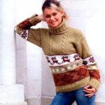 Узор Олени спица: идеальное решение для модного свитера