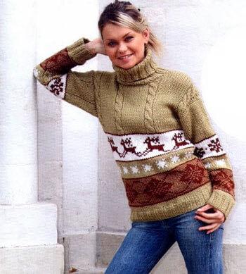 Узор Олени спица: идеальное решение для модного свитера uzor olen 12